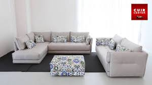 canapé panoramique cuir center canapé d angle 5 places en tissu bravo