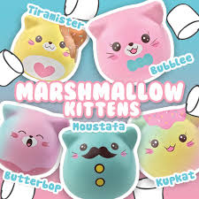 kitty marshmallow squishies