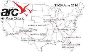 Prescott Arizona Map by Air Race Classic Underway Aopa