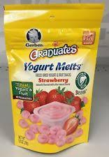 graduates snacks gerber graduates strawberry yogurt melts 1 oz ebay