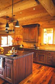 kitchen designs with islands for small kitchens log home kitchen design using brown granite
