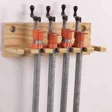 pipe clamp rack woodworking plan from wood magazine