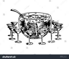 vintage cocktail party clipart punch bowl 1 retro clip art stock vector 59884579 shutterstock