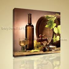 print abstract painting wall art on canvas wine food dining room