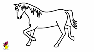 horse easy drawing how to draw a horse youtube