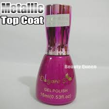 metallic top coat mirror effect spectial for metal nail gel polish