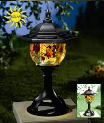 Solar Patio Lights Amazon by Amazon Com Solar Patio And Garden Light Tiffany Style