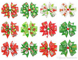 christmas ribbon bows girl 3 inch christmas ribbon bows hairpin snowman christmas tree