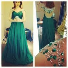 discount short emerald green chiffon prom dresses 2017 short