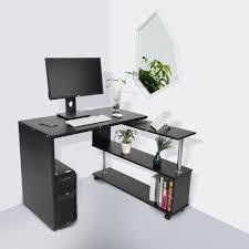 Corner Computer Desk Uk Uk 360 Degree Rotatable Adjustable Corner Computer Desk Pc Table