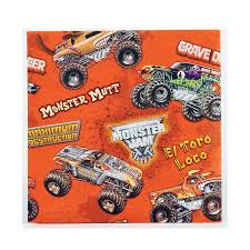 prince george monster truck show napkins birthdayexpress com
