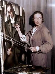 Tamara De Lempicka Art by Painting A Portrait