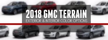what colors are available for the 2018 gmc terrain