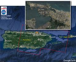 Puerto Rico On World Map Nasa Damage Map Aids Fema U0027s Hurricane Maria Rescue Operation In