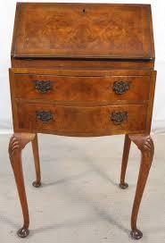 writing bureau furniture walnut wooden workstation for home use