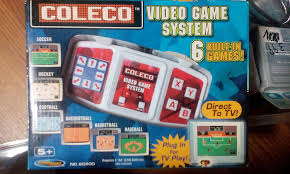amazon com coleco plug n play tv video game system soccer hockey