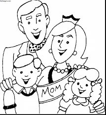 awesome my family coloring pages for kids with family coloring