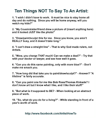 What To Say At Sheet For Show Goers What Artists Wish You Would Say To