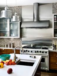 Stainless Steel Backsplash Tile Houzz - Stainless steel backsplash