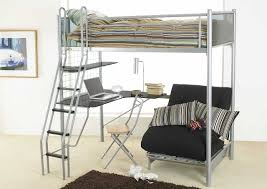 Metal Frame Loft Bed With Desk 20 Ways To Loft Bed With Desk And Futon