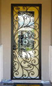 exle of wrought iron security door by artistic iron works las