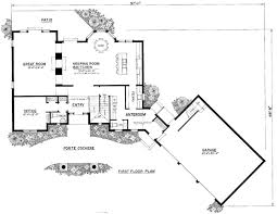 Cottage House Plans With Porte Cochere by House Plan 86076 At Familyhomeplans Com