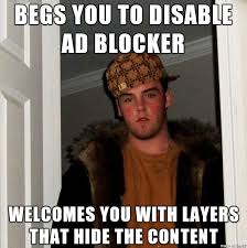 Website Meme - no random website i dont want to subscribe to your newsletter meme guy