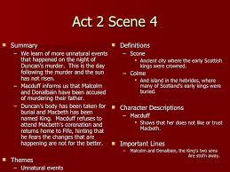 themes of macbeth act 2 scene 1 macbeth act 2 notes teacher