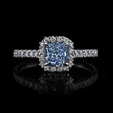 blue diamond wedding rings fancy blue radiant cut diamond ring