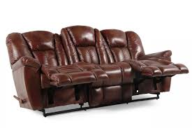lazy boy maverick sofa leather 87 reclining sofa in mahogany mathis brothers furniture