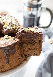 chocolate chiffon cake with ganache glaze truffles and trends