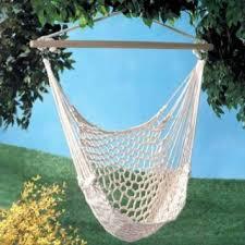 buy white cotton swing hammock hanging outdoor chair garden
