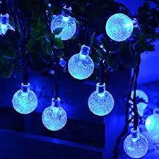 qedertek solar string lights amazon com qedertek solar string lights outdoor bubble globe
