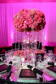 Platinum Wedding Decor Pink Bling Bride Centerpiece Bling Rustic Classic And