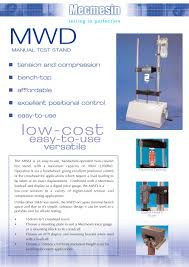 manual test stand mwd mecmesin pdf catalogue technical
