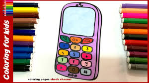 cell phone coloring color cell phone drawing pages
