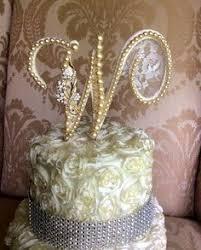 pearl cake topper custom topper for eleni pearl cake topper monogram cake topper