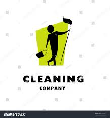 vector logo cleaning company flat cleaning stock vector 417540721