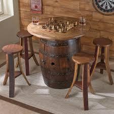 whiskey barrel table for sale wine barrel chairs for sale whiskey barrel game table set wine