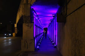 purple led lights bathe jeff park viaduct in experiment