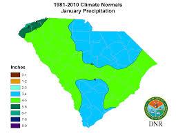 Usa Snow Map by South Carolina State Climatology Office