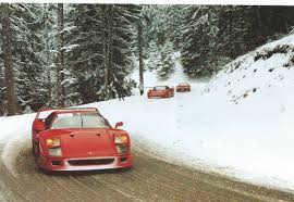 nissan 350z in snow top 1000 ferrari f40 two of them in snow machine 66