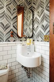 wallpaper ideas for small bathroom bathroom cool small bathroom with white wainscoting and black