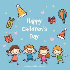 happy children s day card vector premium