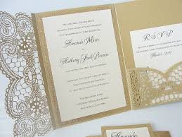 pocket fold invitations laser pocketfold lace