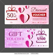 discount gift cards how and gift voucher template can be use stock vector 2018 539323801