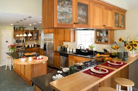 simple wooden cabinet with granite countertop also modern kitchen
