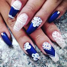 blue and white nails designs image collections nail art designs