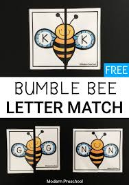 printable alphabet recognition games bumble bee alphabet match alphabet letters bumble bees and free