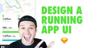running exercise app interface design u2022 sketch for mac design